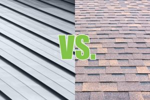 price difference between shingle and metal roof