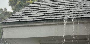 Rain Falling Off Leaking Roof
