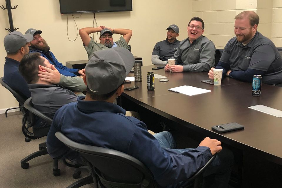 A Roofing Company meeting in progress